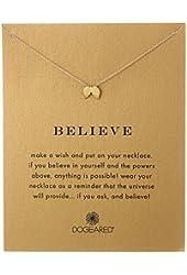 "Dogeared Reminders Believe Angel Wings Pendant Necklace, 18"""