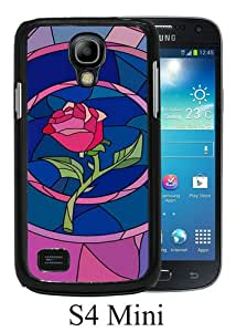 Samsung Galaxy S4 Mini case,Unique Design Beauty And The Beast Belle Rose Black cell phone case for Samsung Galaxy S4 Mini