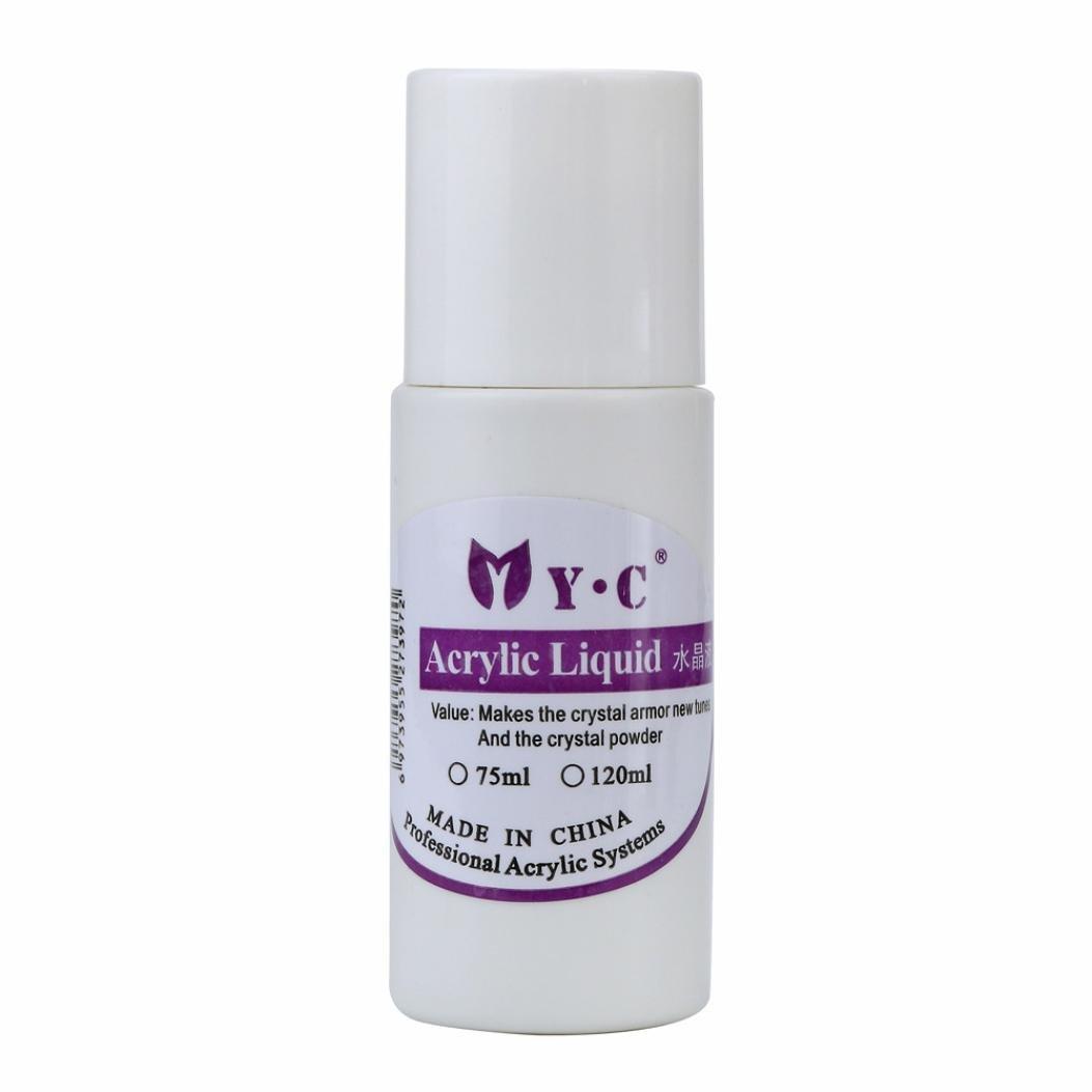 zahuihuiM 75ML Professional Nail Art System Liquide en poudre acrylique pour faux conseils (Blanc)
