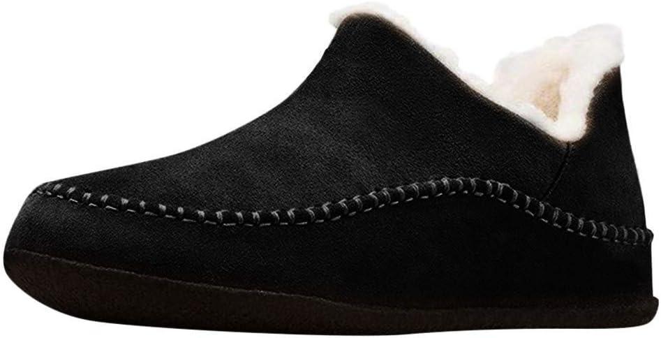 Ladies Retro Round Toe Cotton Shoes Non-Slip Flat Short Boots Women Snow Boots Winter Warm Plush