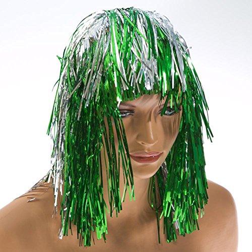 Green and Silver Tinsel Wig (Green Tinsel Wig)