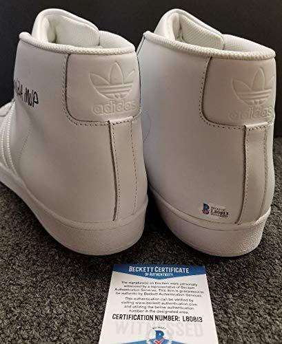 Kareem Abdul Jabbar Autographed Signed Memorabilia Adidas 6X Nba MVP Shoes White Beckett Authentic Itp Coa