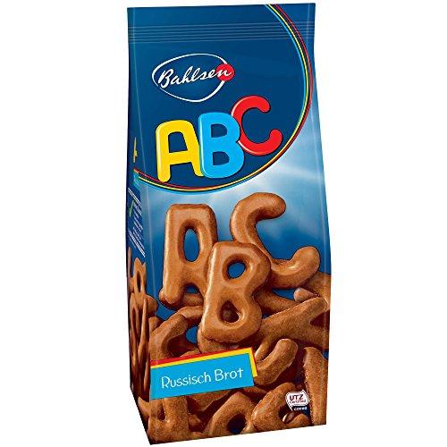 Bahlsen Sugar - Bahlsen ABC Cookies Russisch Brot - Pack of 2