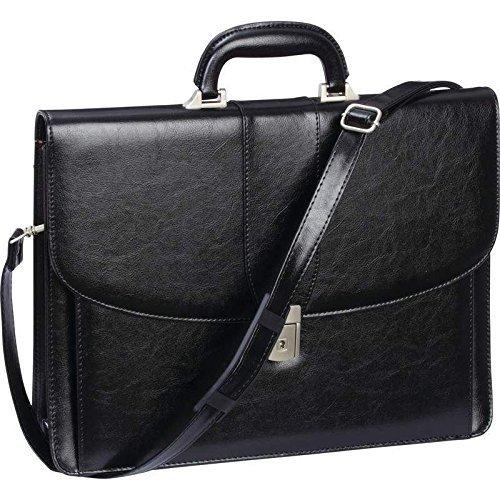 Black Professional Business Briefcase, Womens Attache Case Men Laptop School Bag (Attache Case For Women)