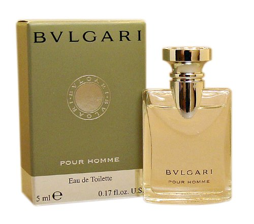 Bvlgari Pour Homme by Bvlgari for Men 0.17 oz Eau de Toilette Miniature (0.17 Ounce Miniature Collectible)