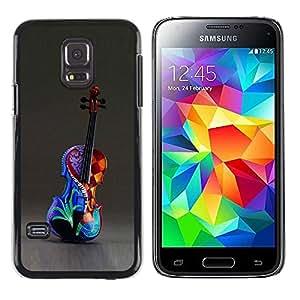 PC/Aluminum Funda Carcasa protectora para Samsung Galaxy S5 Mini, SM-G800, NOT S5 REGULAR! Colorful Painted Art Music / JUSTGO PHONE PROTECTOR