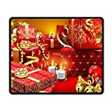 Golden Red Gift Office Rectangle Non-Slip Rubber Mouse Pad Cool Gaming Mouse Pad for Laptop Displays Tablet Keyboard