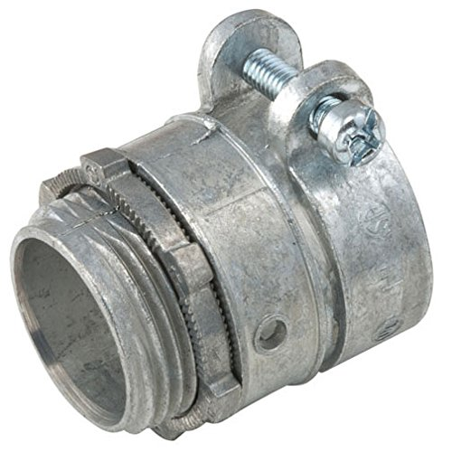 Hubbell-Raco 2194-10 Connector, Squeeze, Flex and Armored Cable, Zinc, Uninsulated, 1-Inch