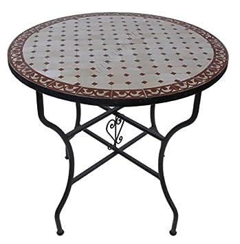 Mobilier de jardin Table Ronde Zellige Mosaiques Fabrikation ...
