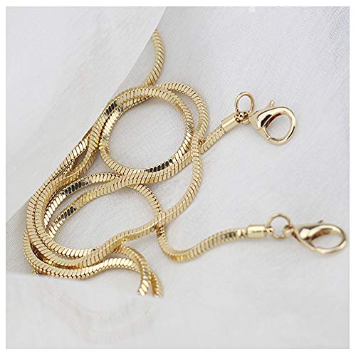 Small Square Copper Purse Shoulder Cross Body Handbag Bag Chain Strap Replacement(Gold, 47)