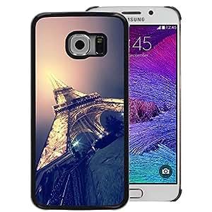 Red-Dwarf Colour Printing Eifel Tower Paris Light Night City France - cáscara Funda Case Caso de plástico para Samsung Galaxy S6 EDGE SM-G925