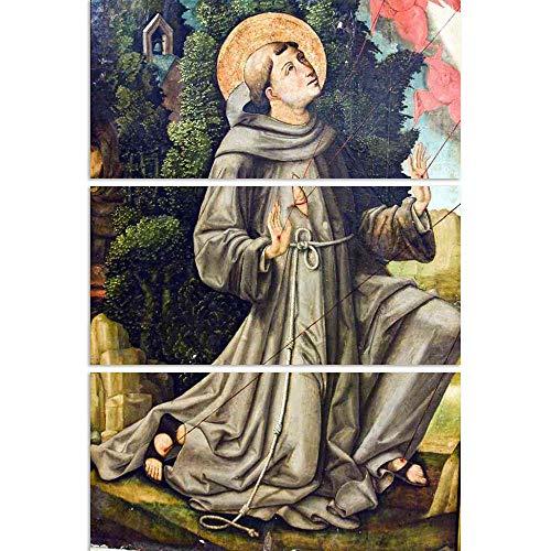 (ArtzFolio St Francis Split Art Painting Panel On Sunboard 25.9 X 37.5Inch)