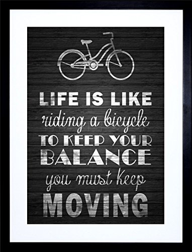 RIDING BICYCLE QUOTE FRAMED F97X483 product image