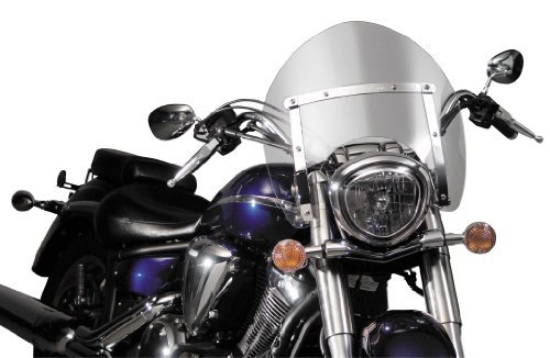 National Cycle N21705 Switchblade Shorty Clear Windshield for Honda VT1300C/VTX ()