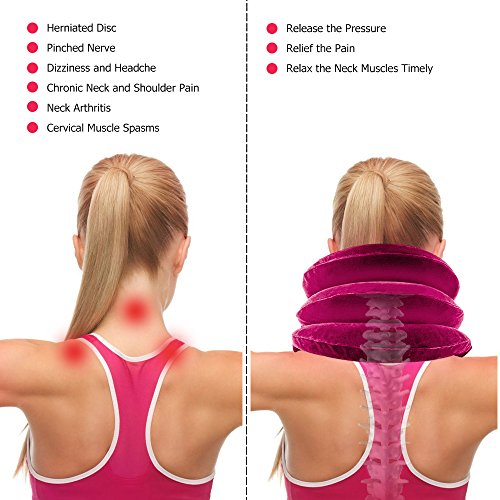 HailiCare-Neck-Pillow-Inflatable-Cervical-Neck-Traction-Device-Effective-and-Instant-Relief-for-Chronic-Neck-and-Shoulder-Pain-Cervical-Collar-Adjustable-Red