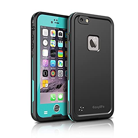 """iPhone 6 Plus Waterproof Case,Easylife 6.6 feet Underwater Waterproof Shockproof Dirtproof Snowproof Full Sealed Protective Case Cover for iPhone 6s Plus (5.5"""")-Blue"""