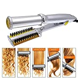 2-Way Rotating Curling Iron Hair Straightener