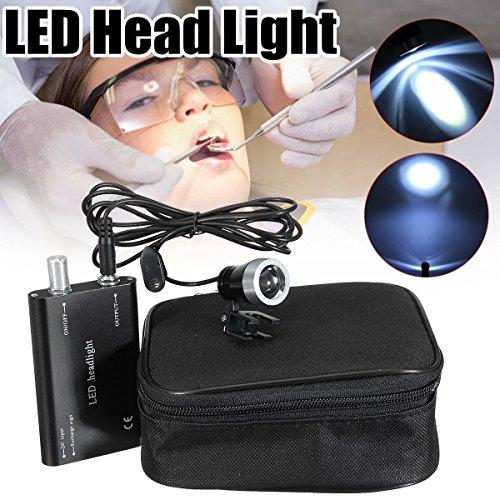 OUBO DENTAL LED Head Light Lamp 3W for Dental Black Surgical Medical Binocular Loupe