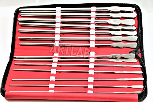 GERMAN DITTEL DILATOR SET OF 14-8FR THROUGH 34FR URETHRAL SOUNDS UROLOGY TOOLS COMES WITH POUCH (CYNAMED) by CYNAMED