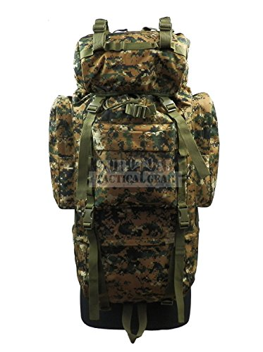 02e469c0e8 ZAPT 65L Tactical Backpack Military Army Waterproof Giant Hiking Camping  Trekking Rucksack Bag Internal Frame Camo Packs with Rain Cover (MARPAT  Woodland)