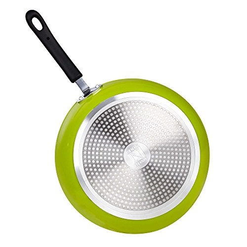 Cook N Home 12-Inch Frying Pan with Non-Stick Coating Induction Compatible Bottom, Large, Green by Cook N Home (Image #1)