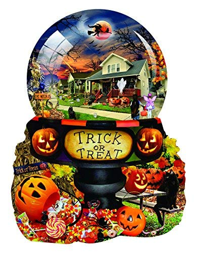Halloween Globe 1000 pc Shaped Jigsaw Puzzle by -