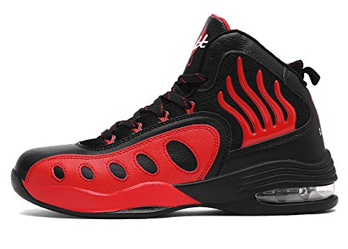 Shoes Absorption Shock Running (No.66 Town Men's Air Shock Absorption Running Tennis Shoes Sneaker Basketball Shoes Size 8 Red)