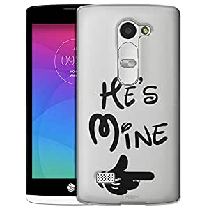 LG Leon Case, Slim Fit Snap On Cover by Trek Hes Mine - Black Clear Case