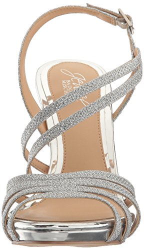 Mischka Women's Badgley Sandal Dress Silver Humble dPWwqU