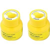 Minkissy 2pcs removedor de esmalte de uñas olla de fusión removedor de esmalte de uñas gel removedor de esmalte de uñas envuelve herramienta de removedor de gel de uñas (amarillo)