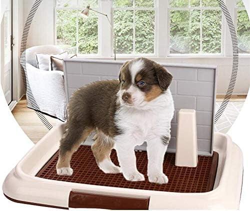 Mascota del Perrito de IR al baño WC con la Pared de la simulación para los Hombres Bandeja de Pee Formación Pad con mampara Pee: Amazon.es: Deportes y aire libre