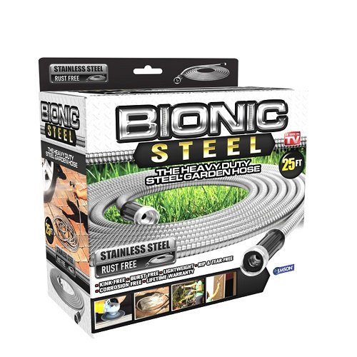 Bionic Steel 304 Stainless Steel Metal Garden Hose - Lightweight, Kink-Free, and Stronger Than Ever, Durable and Easy to Use by Bionic Steel