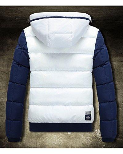 caliente Invierno de Mantener Blanco capa abajo Outcoat encapuchada Chaqueta la Hombre Más grueso ligero wUfFPxPn