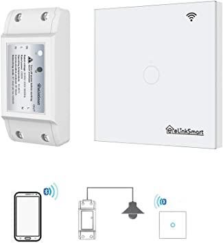 Elinksmart Diy Wireless Smart Breaker Switch Kit Neutral Wire Required App Or Remote Control Not Wifi Breaker And Touch Switch 1 Gang Wall Light Switch Panel Amazon Com Industrial Scientific