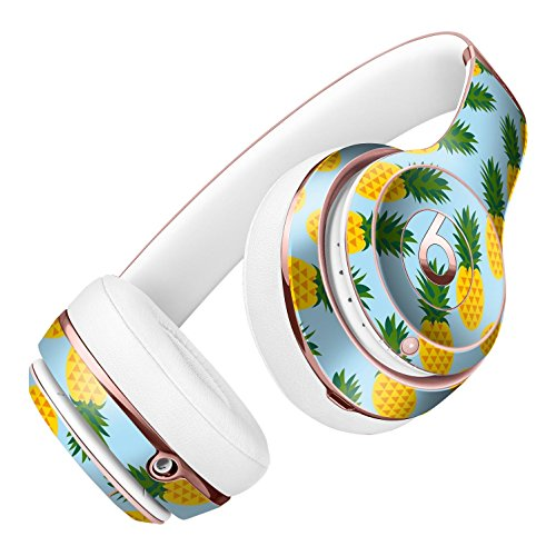 Tropical Twist PineApple v1 DesignSkinz Full-Body Skin Kit for the Beats by Dre Solo 2 Wireless Headphones / Ultra-Thin / Matte Finished / Protective Skin Wrap ()