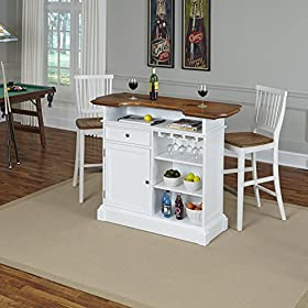 Home Styles Model 5002-998 and Two Stools White an...