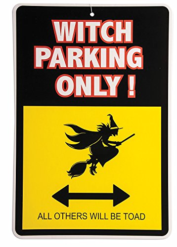 Halloween Witch Parking Only Sign
