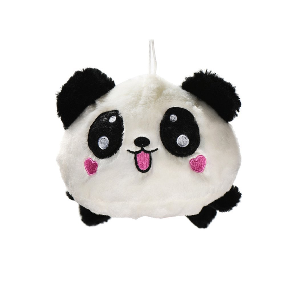 Love Pattern Panda Pillow ,BeautyVan Cute Plush Doll Toy Stuffed Animal Panda Pillow Quality Bolster Gift (D)