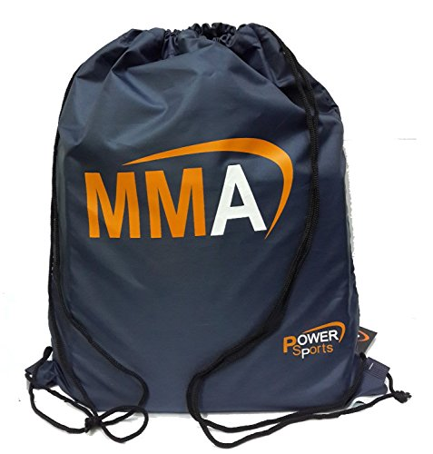 Power Sports 'MMA' Drawstring Kit Bag Adult/Child Range of Quality Sports Equipment Bag, compartment pocket for cell phone or iPod holder (Draw Range)
