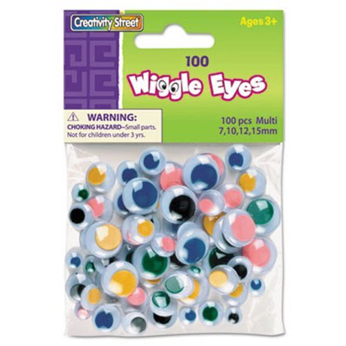 Wiggle Eyes Assortment, Assorted Sizes & Colors, 100 Eyes per Pack (21 Pack) by Creativity Street