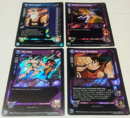 Dragonball GT Collectors Tin Exclusive 4 Card Promo Pack CCG T1-T4