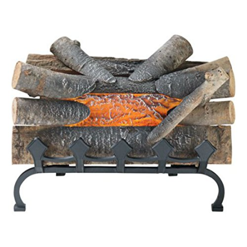 Pleasant Hearth 20″ Natural Wood Electric Crackle Log with Grate, L-20WG Hottest Items Now