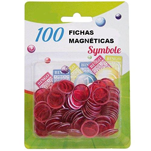 10 PAQUETES DE 100 FICHAS MAGNÉTICAS PARA BINGO: Amazon.es: Juguetes y juegos