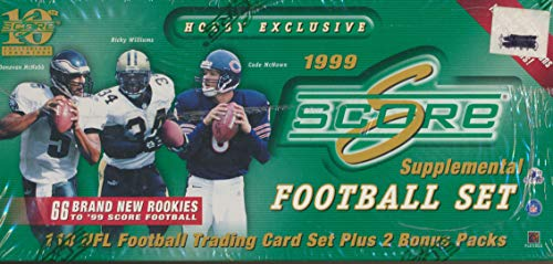 - Score 1999 Supplemental Football Set Hobby Box