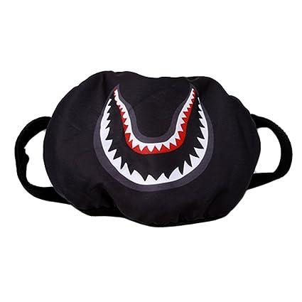 travet Cool Personalidad Máscara de tiburón caza pesca sol máscara de protección, negro, As
