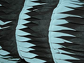 44b2086a649c Bordüre genäht Detail Chiffon Kleid Stoff schwarz   türkis – Meterware +  Frei Minerva Crafts Craft