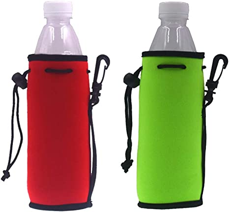 Collapsible Nylon 6 Pack Neoprene Water Bottle Sleeves Insulator Cooler Coolies