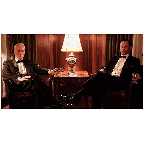 Mad Men Roger Sterling and Don Draper Sitting In Tuxedos 8 x 10 Photo