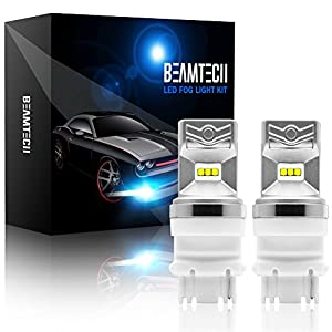 BEAMTECH 7443 LED Bulb, CSP Chips 6500K 800 Lumens W21/5W 7515 T20 Dual Xenon White Extremely Super Bright Brake Light