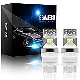 BEAMTECH 7440 LED Bulb, CSP Chips 6500K 800 Lumens W21W 7505 T20 Single Xenon White Extremely Super Bright Back-Up Brake Light